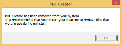 uninstall pdf creator