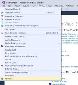 vsc2013-tools-options