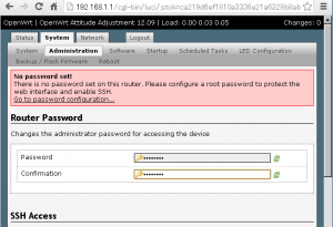 openwrt-setting-password